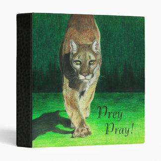 """""""Prey, Pray!"""" Cougar Big Cat Back to School Binder"""