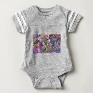 Preying Mantis  & Purple Cone Flowers Baby Bodysuit