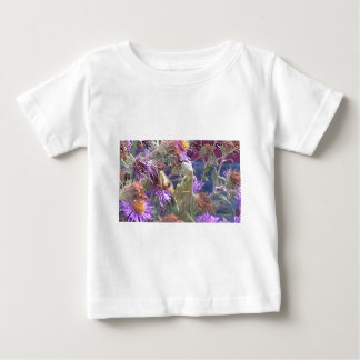 Preying Mantis  & Purple Cone Flowers Baby T-Shirt