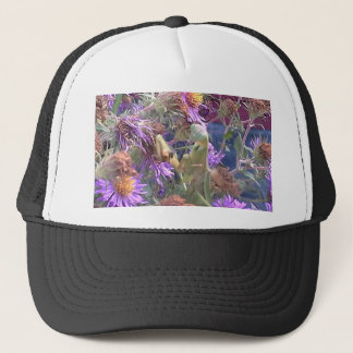 Preying Mantis  & Purple Cone Flowers Trucker Hat