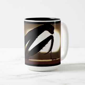 Preying Mantis Silhouette Coffee Mug
