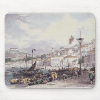 Pria Grande, Macao, c.1850 (colour litho) Mouse Pad