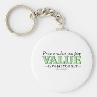 Price is what you pay Value is what you get Keychain