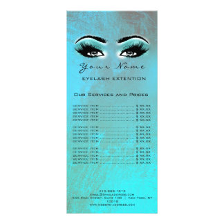 Price List Lashes Extension Makeup Artist Ocean Rack Card