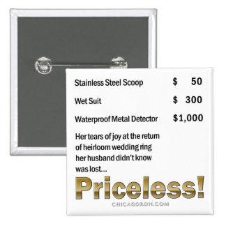 """""""Priceless"""" 2 Inch Square Button"""
