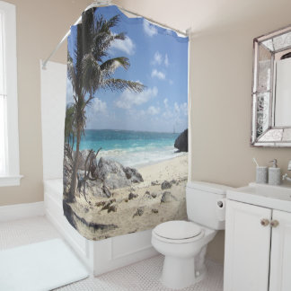 Priceless View of Tulum, Mexico - Shower Curtain