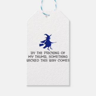Pricking Of My Thumb Halloween Design Gift Tags