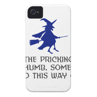 Pricking Of My Thumb Halloween Design iPhone 4 Case-Mate Case
