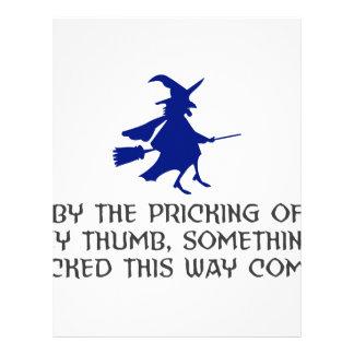 Pricking Of My Thumb Halloween Design Letterhead