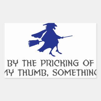 Pricking Of My Thumb Halloween Design Sticker