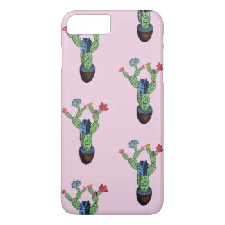 Prickly cactus with flowers Case-Mate iPhone case