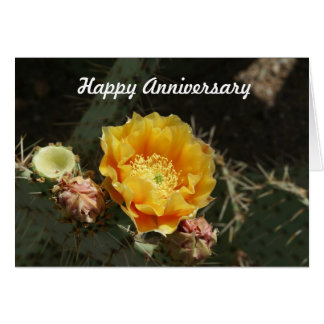 Prickly Pear Bloom Anniversary Card