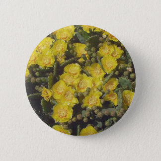 Prickly Pear Cactus 2 Inch Round Button