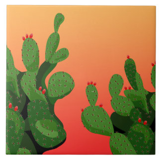 Prickly Pear Cactus Arizona Home Decor Tile