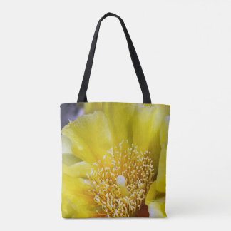 Prickly Pear Cactus Bloom Tote Bag