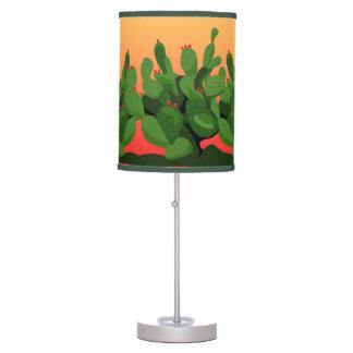 Prickly Pear Cactus Desert Sunset Lamp