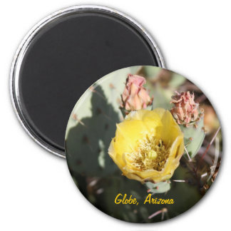 Prickly Pear Cactus,  Globe, Arizona 2 Inch Round Magnet