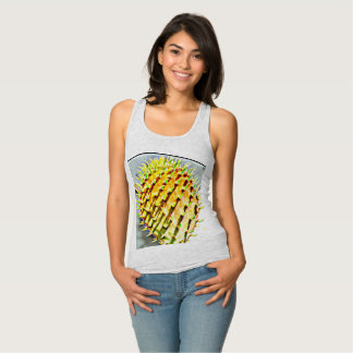 Prickly Pear Cactus Paddle Women's Racerback Tank