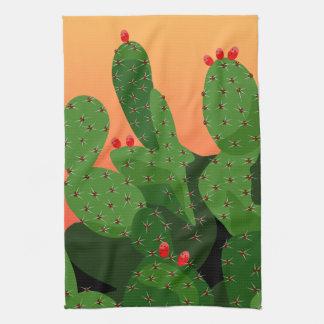 Prickly Pear Desert Sunset Kitchen Towel