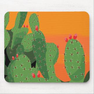 Prickly Pear Desert Sunset Mousepad