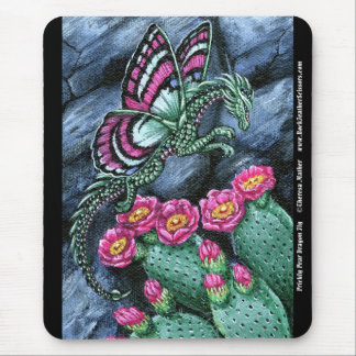 Prickly Pear Dragon Fly Mousepad