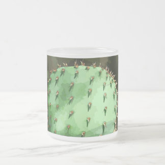 Prickly Pear Frosted Glass Mug