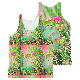Prickly Pear In Pink Unisex Tank Top