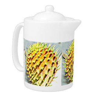 Prickly Pear Paddle Cactus Tea Pot