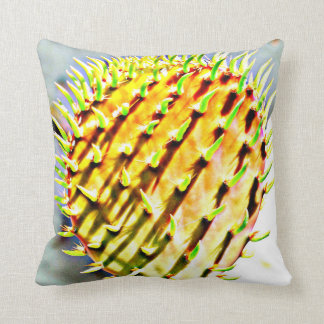 Prickly Pear Paddle Poly Throw Pillow
