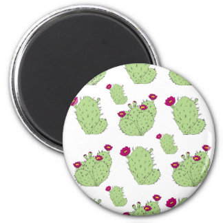 Prickly Pear Pattern 2 Inch Round Magnet