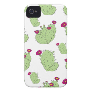Prickly Pear Pattern iPhone 4 Case