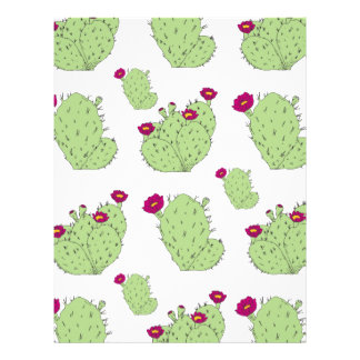 Prickly Pear Pattern Letterhead