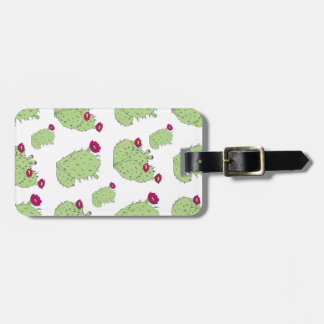 Prickly Pear Pattern Luggage Tag