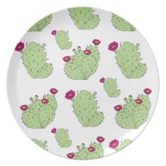 Prickly Pear Pattern Plate