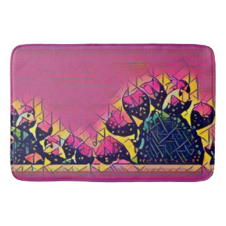 Prickly Pear Sunset Bath Mat