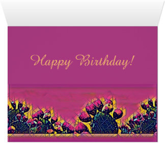 Prickly Pear Sunset Card