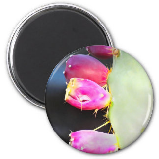 Prickly Pear Watercolor, Personalize! 2 Inch Round Magnet