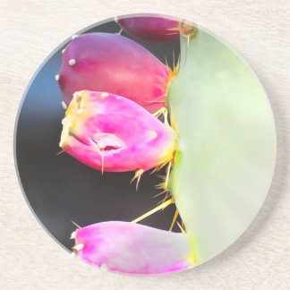 Prickly Pear Watercolor, Personalize! Drink Coaster