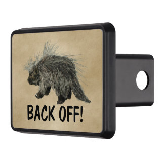 Prickly Porky - Back Off! Trailer Hitch Cover