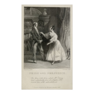 Pride and Prejudice Jane Austen Poster