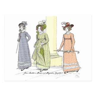 Pride and Prejudice - Mrs. Bennet Visits Jane Postcard
