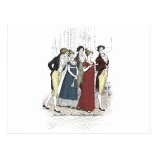 Pride and Prejudice - Netherfield Party Arrives Postcard