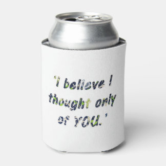 Pride and Prejudice Quote Can Cooler