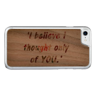 Pride and Prejudice Quote Carved iPhone 7 Case