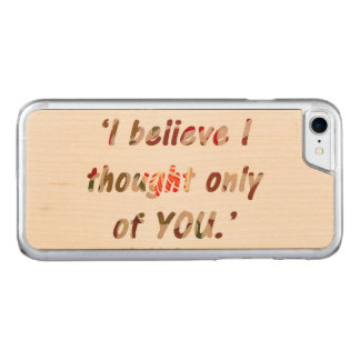 Pride and Prejudice Quote Carved iPhone 8/7 Case