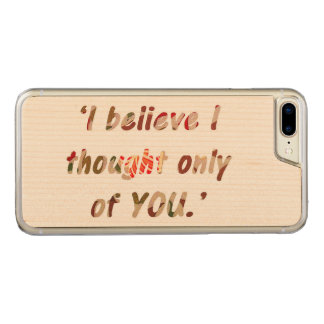 Pride and Prejudice Quote Carved iPhone 8 Plus/7 Plus Case