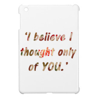 Pride and Prejudice Quote Cover For The iPad Mini