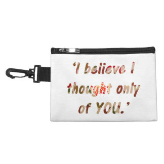 Pride and Prejudice Quote Customisable Accessory Bag