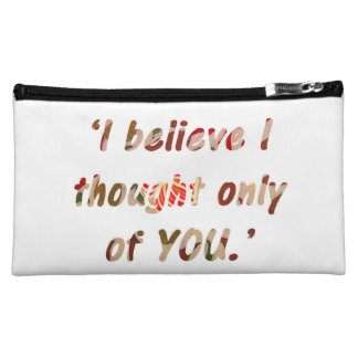 Pride and Prejudice Quote Customisable Cosmetic Bag