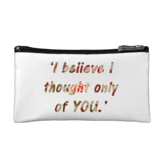 Pride and Prejudice Quote Customisable Cosmetic Bags